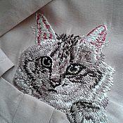 """Одежда ручной работы. Ярмарка Мастеров - ручная работа Программа машинной вышивки """"Кот"""". Handmade."""