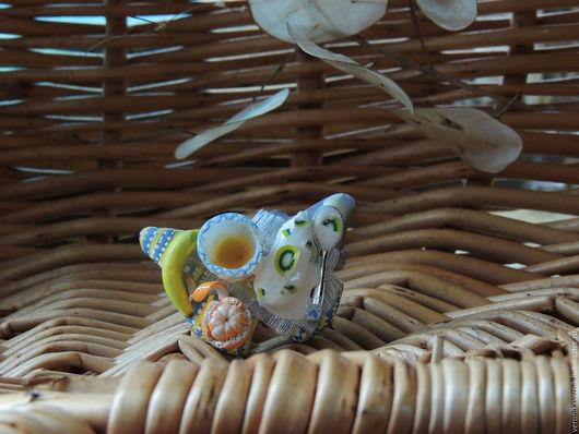 """Кольца ручной работы. Ярмарка Мастеров - ручная работа. Купить """"Сладкая жизнь"""". Handmade. Комбинированный, кольцо с тортом"""