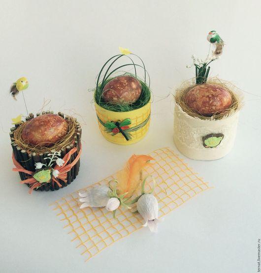 Украшение пасхального стола. Корзиночка для яйца. Подарок. Пасха. Пасхальный сувенир или комплимент. Купить.