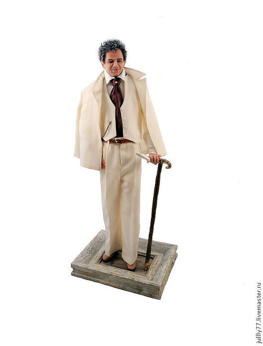 Коллекционные куклы ручной работы. Ярмарка Мастеров - ручная работа. Купить мужчина. Handmade. Бежевый, кукла из пластика, натуральные ткани