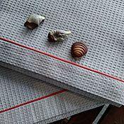 Для дома и интерьера handmade. Livemaster - original item The towel is made of waffle fabric and the sky 91h148 cm. Handmade.