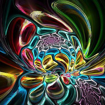Картины и панно ручной работы. Ярмарка Мастеров - ручная работа Мозаика радужные цветы. Handmade.
