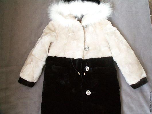 Одежда для девочек, ручной работы. Ярмарка Мастеров - ручная работа. Купить Детская мутоновая шубка ( из кусочков мутона). Handmade.