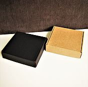 "Материалы для творчества ручной работы. Ярмарка Мастеров - ручная работа коробка ""Простая-28""  15х15х4см плоская квадратная маленькая крафт. Handmade."