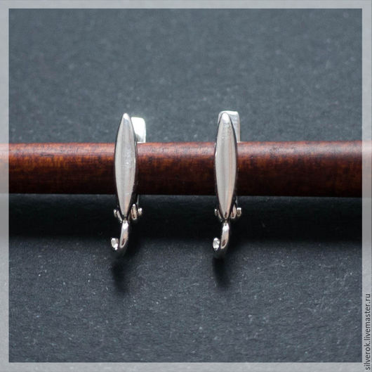 Для украшений ручной работы. Ярмарка Мастеров - ручная работа. Купить Швензы основы зернышко серебряные 925 пробы. Handmade.