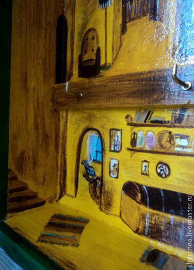 Прихожая ручной работы. Ярмарка Мастеров - ручная работа. Купить Ключница №12. Handmade. Зеленый, для дома и интерьера, роспись, акрил