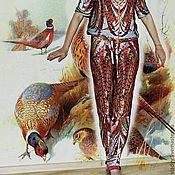 """Одежда ручной работы. Ярмарка Мастеров - ручная работа шелковый костюм """"ПТИЦА"""". Handmade."""