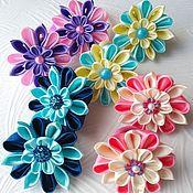 Заколки ручной работы. Ярмарка Мастеров - ручная работа Резиночки с цветочками. Handmade.