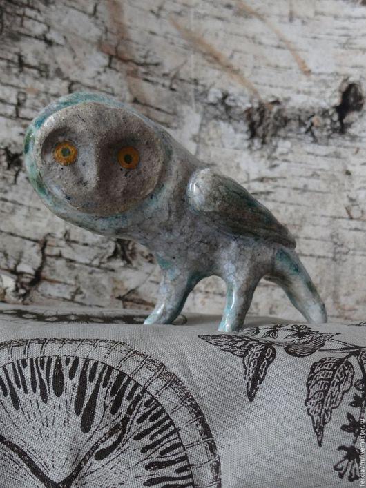 Статуэтки ручной работы. Ярмарка Мастеров - ручная работа. Купить Сова. Handmade. Комбинированный, Керамика, оксиды металлов