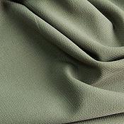 Ткани ручной работы. Ярмарка Мастеров - ручная работа Костюмно-плательная тонкая шерсть стрейч Lora Piana,цвет оли. Handmade.