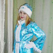 Одежда ручной работы. Ярмарка Мастеров - ручная работа Снегурочка из парчи с оригинальными рукавами.. Handmade.