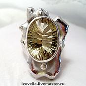 """Кольца ручной работы. Ярмарка Мастеров - ручная работа Кольцо """"Королева Солнце"""" - цитрин, серебро 925. Handmade."""