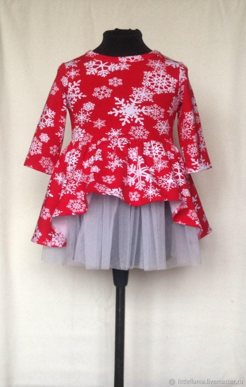Нарядное новогоднее платье на девочку