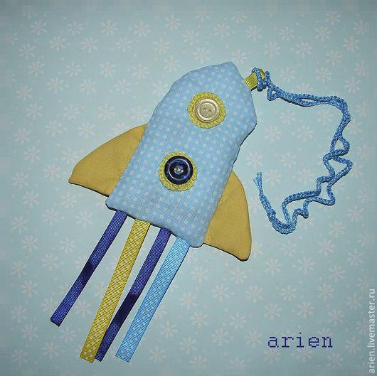 """Развивающие игрушки ручной работы. Ярмарка Мастеров - ручная работа. Купить Развивающая игрушка """"Ракета"""". Handmade. Голубой, для детей, для новорожденного"""