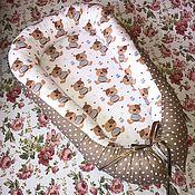 Работы для детей, ручной работы. Ярмарка Мастеров - ручная работа Гнездышко (кокон) для новорожденного. Handmade.