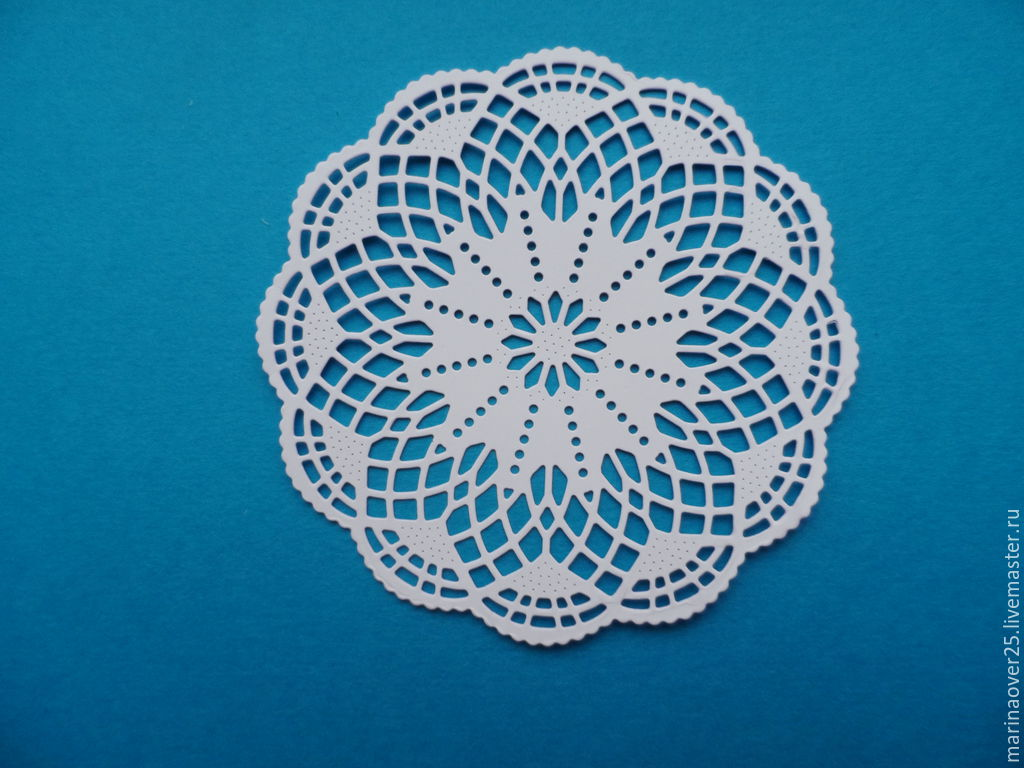 салфетка круглая бумажная ажурная картинка
