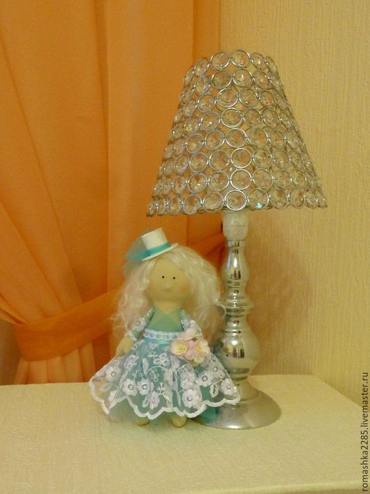 Коллекционные куклы ручной работы. Ярмарка Мастеров - ручная работа. Купить Интерьерная куколка. Handmade. Бирюзовый, тыквоголовка, кружево