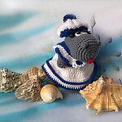 Подарки к праздникам ручной работы. Ярмарка Мастеров - ручная работа Бегемотик морячка. Handmade.
