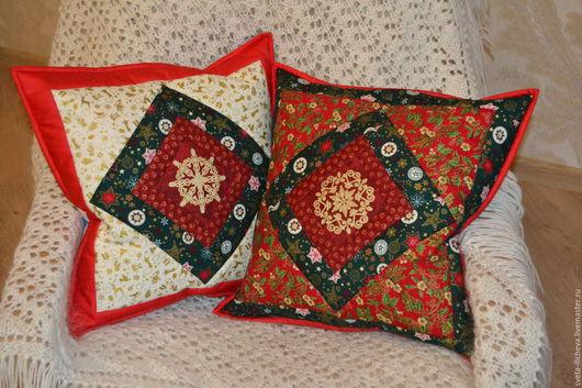 Текстиль, ковры ручной работы. Ярмарка Мастеров - ручная работа. Купить Новогодняя подушка. Handmade. Комбинированный, Новый Год