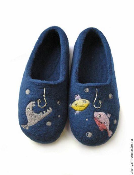 Обувь ручной работы. Ярмарка Мастеров - ручная работа. Купить Тапочки валяные. Handmade. Тапки, домашние тапки, домашние тапочки