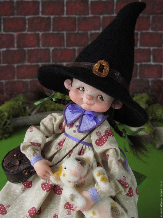 """Коллекционные куклы ручной работы. Ярмарка Мастеров - ручная работа. Купить """"Шушуня"""". Handmade. Комбинированный, малышка, косички, шёлковые ленты"""
