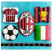 Сувениры и подарки handmade. Livemaster - original item Set of gingerbread Football. Handmade.