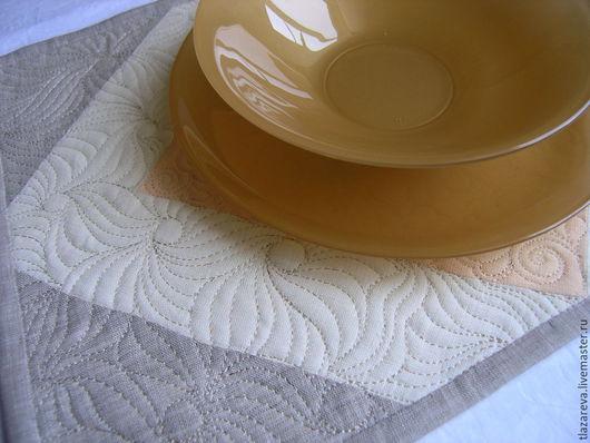 Текстиль, ковры ручной работы. Ярмарка Мастеров - ручная работа. Купить Комплект ланч-матов льняной 4 шт.. Handmade.