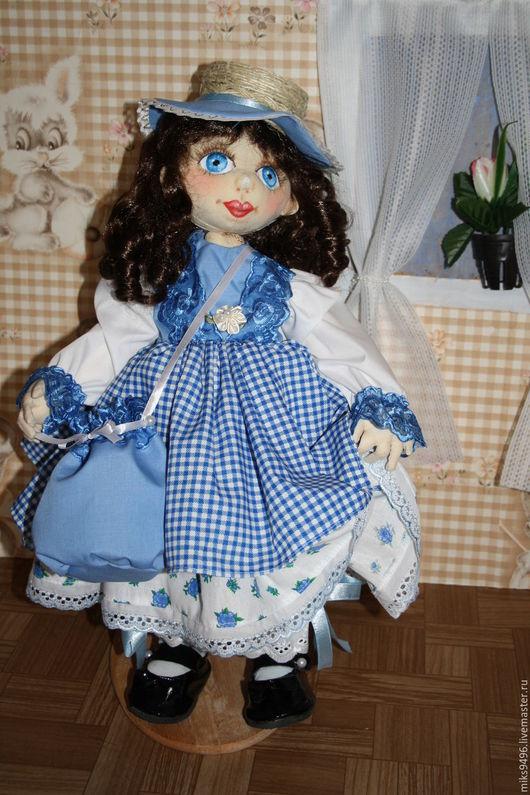 Коллекционные куклы ручной работы. Ярмарка Мастеров - ручная работа. Купить Пастушка. Handmade. Синий, кукла в подарок, кукла текстильная