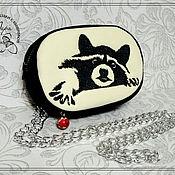 Сумки и аксессуары handmade. Livemaster - original item Pouch belt Raccoon. Handmade.