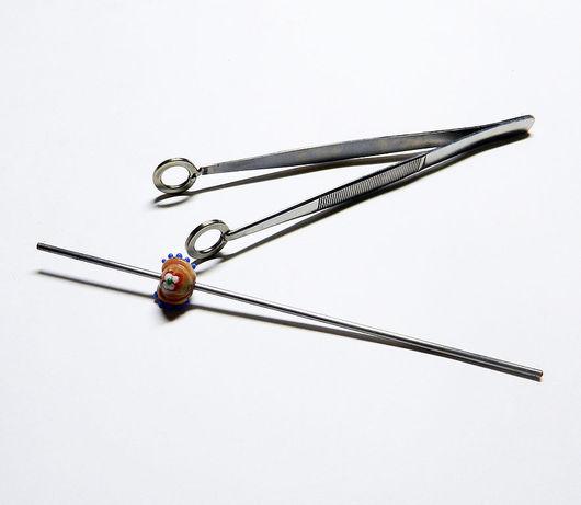 All for Jewelry Making handmade. Livemaster - handmade. Buy Tweezers-press 'SATURN'.Lampwork (handmade), stainless steel