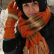Аксессуары ручной работы. Ярмарка Мастеров - ручная работа Комплект: шарф и перчатки.. Handmade.