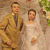 """Куклы и игрушки ручной работы. Ярмарка Мастеров - ручная работа Авторская  композиция с портретным сходством """"Just married"""". Handmade."""