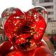 Подарки для влюбленных ручной работы. Сердце стеклянное. Марбл.. Татьяна Тунис (tunis). Ярмарка Мастеров. Свадьба, стекло