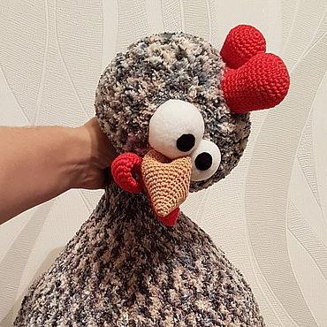 Textiles handmade. Livemaster - original item Car/sofa chicken. Handmade.