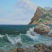 """Картины и панно ручной работы. Ярмарка Мастеров - ручная работа """" Море"""". Handmade."""