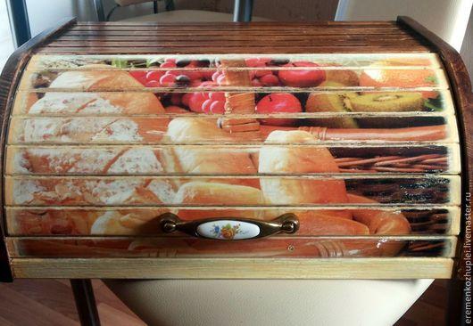 """Кухня ручной работы. Ярмарка Мастеров - ручная работа. Купить Хлебница, дерево, """"Аппетитная старина"""". Handmade. Дерево, состаривание"""