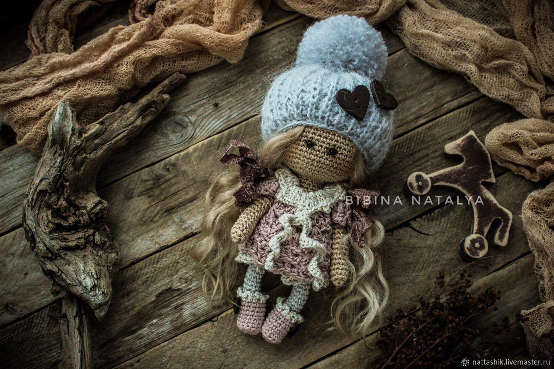 Кукла - ладошка для души. Оберег талисман пыльно-розовый, Куклы и пупсы, Архангельск,  Фото №1
