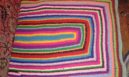Текстиль, ковры ручной работы. Плед ковер. Вязаные коврики от Татьяны. Интернет-магазин Ярмарка Мастеров. Коврик, коврик для детской