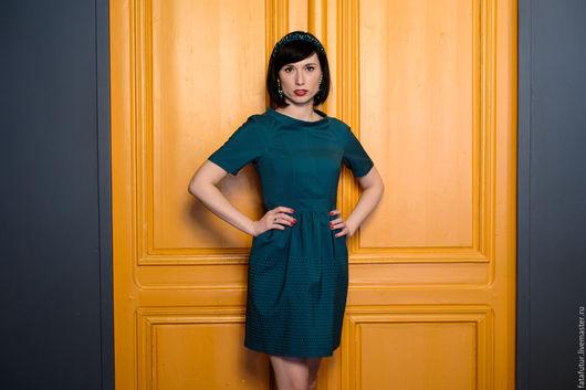 Платья ручной работы. Ярмарка Мастеров - ручная работа. Купить Нью Йорк. Handmade. Тёмно-зелёный, зеленое платье