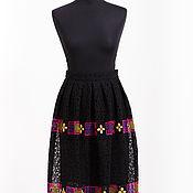 Одежда handmade. Livemaster - original item Black lace skirt with ornament. Handmade.