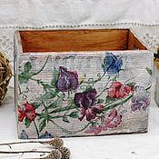 Для дома и интерьера handmade. Livemaster - original item Box Sweet peas array of Siberian pine. Handmade.