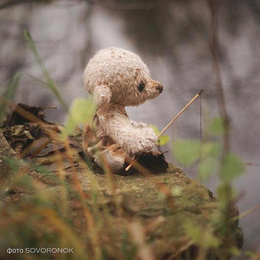 Мишки Тедди ручной работы. Ярмарка Мастеров - ручная работа. Купить Осенняя рыбалка. Handmade. Бежевый, шерстяной, наполнитель холофайбер
