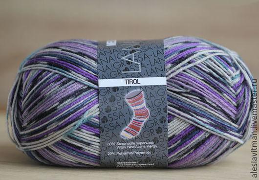 Вязание ручной работы. Ярмарка Мастеров - ручная работа. Купить Миленвайт Тироль 3708 фиолетовый Meilenweit Tirol 3708. Handmade.