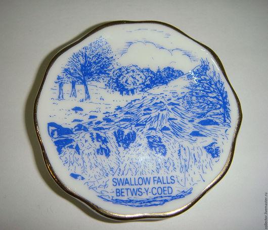 Винтажные предметы интерьера. Ярмарка Мастеров - ручная работа. Купить Миниатюрная тарелка. Handmade. Синий, коллекционная тарелка, сувенирная тарелка