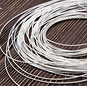Канитель ручной работы. Ярмарка Мастеров - ручная работа Канитель жесткая серебро 1 мм. Handmade.
