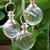 Фен-шуй и эзотерика handmade. Livemaster - original item Crystal 40mm Gemstone Ball Pendulum Chakra Pendant. Handmade.