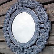 Для дома и интерьера ручной работы. Ярмарка Мастеров - ручная работа Зеркало в деревянной раме, стиль прованс. Z7.. Handmade.
