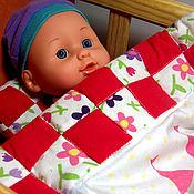 Куклы и игрушки ручной работы. Ярмарка Мастеров - ручная работа Комплект постельного белья для куклы. Handmade.