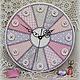 часы настенные, часы настенные круглые, часы для рукодельницы, для загородного дома, для мастерской, для швеи, часы в мастерскую, часы круглые, часы для дачи, купить часы, маша спирина