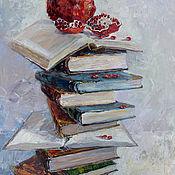"""Картины и панно ручной работы. Ярмарка Мастеров - ручная работа картина маслом """"Гранат Науки """". Handmade."""